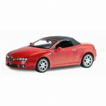 Alfa Romeo Spider Rood Red Cabrio + stoft top  1/18
