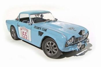 Triumph TR 4 Rallye Blauw  Blue # 155  1/18