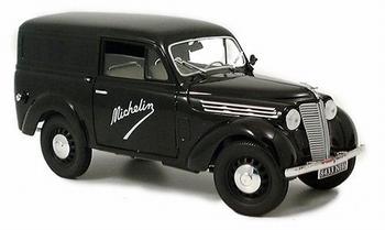 Renault Juva 4 Ulitaire Zwart Black  Michelin  1/18