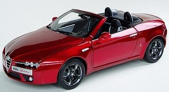 Alfa Romeo Spider Cabrio Rood Metalli Red + soft top  1/18