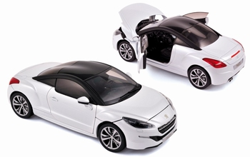 Peugeot RCZ Wit/ zwart  White / Black 2012  1/18