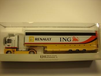 Renault Magnum F1 tuck  ING TRAILER  1/50