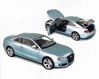 Audi A5 Coupé  2007 Zilver blauw - Silver Blue  1/18