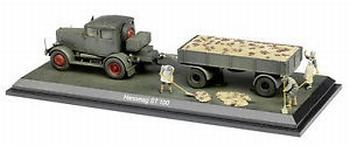 Diorama Hanomag ST 100 met aanhangwagen + trailer  1/43