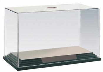 Plexi vitrine box met zwarte bodemplaat