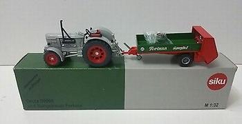 Deutz D9005 met meststrooi aanhangwagen  1/32