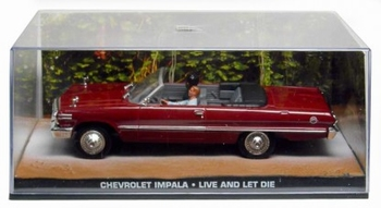 Chevrolet Impala Rood Red James Bond Live and let die  1/43