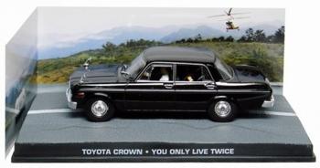 Toyota Crown Zwart  Black James Bond You only live twice   1/43