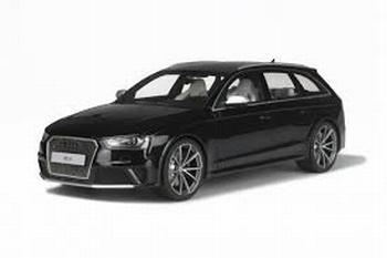 Audi RS4 B8 Zwart Panther Black  1/18
