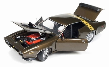 Plymouth Road Runner 1971 Goud Groen  Green Gold  1/18
