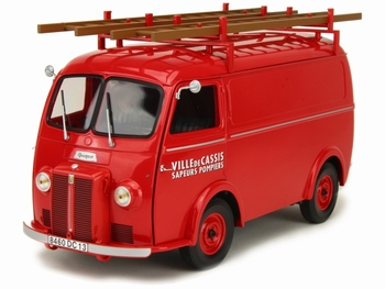 Peugeot D4A 1955 Pompiers met - with Ladders   1/18