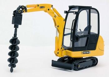 JCB 8016 mini-excavator with drill  1/25