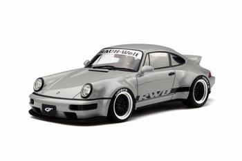Porsche  RWB 911- 964 Duck Tail Grijs Grey  1/18