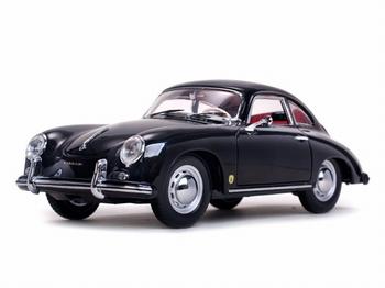 Porsche 359 A 1500 GS Carrera GT 1957 Zwart -  black  1/18