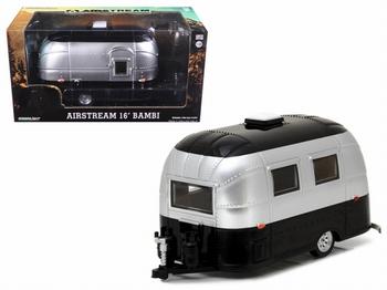 Airstream 16' Bambi Zwart zilver Black silver Camper Caravan  1/24