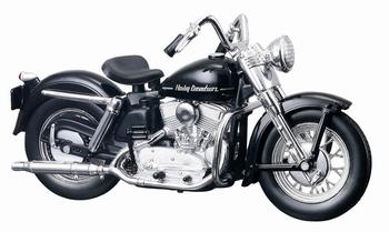 Harley Davidson 1952 K Model Zwart Black  1/18