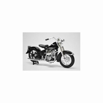 Harley Davidson 1953  74 FL Hydra Glide Zwart Black  1/18