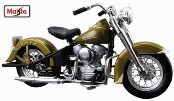 Harley Davidson 1953  74 FL Hydra Glide Groen  Green  1/18