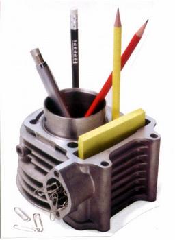 Pen houder motor engine Cylinder pen + paperclip holder
