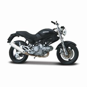 Ducati Monster Dark Zwart Black  1/18