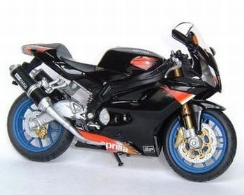 Aprilia RSV 1000 R Zwart  Black  1/18