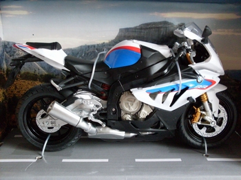 BMW S1000 RR Wit blauw rood  White blue red  1/12