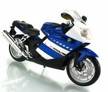 BMW K1200 S Blauw  wit  Blue white  1/12