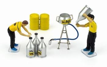 Figuren Benzine set Figures fuel set  1/43