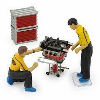 Figuren met motor set  Figures + engine set  1/43