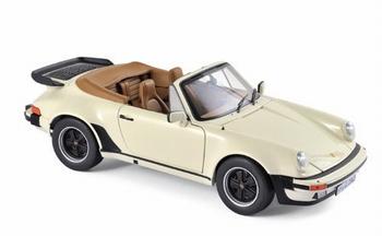 Porsche 911 Turbo Cabrio 1967 Créme Ivoor -  Ivory  1/18