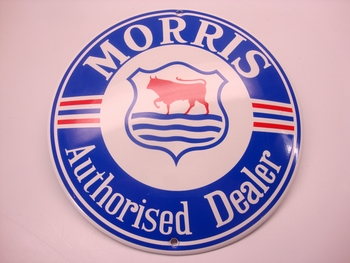 Morris Authorises dealer Ø 13 cm Emaille
