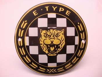 Jaguar E-Type Ø 10 cm Emaille