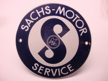 Sachs-Motor Service Ø 10 cm Emaille