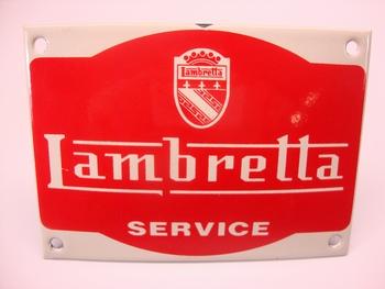 Lambretta Service RH 14 X 10 cm Emaille
