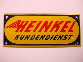 Heinkel Kundendienst 14 x 6 cm Emaille