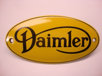 Daimler Ovaal 5 x 10 cm Emaille