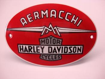 Harley Davidson Ovaal 8 x 12 cm Emaille