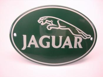 Jaguar Ovaal 8 x 12 cm Emaille