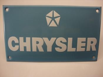 Chrysler RH 10 x 17 cm Emaille