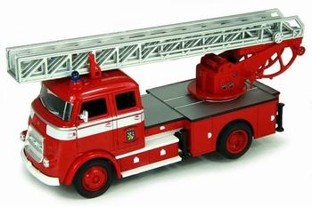 Daf  A1600 Fire engine art 43016 1962 Brandweer  1/43
