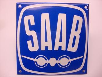 Saab 12 x 12 cm Emaille