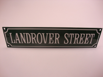 Land Rover Street 8 x 33 cm Emaille