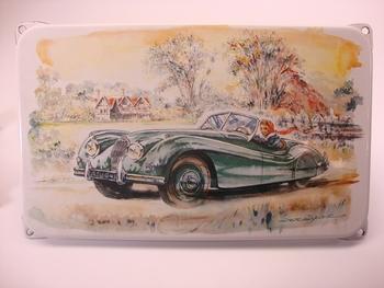 Jaguar 21 x 34 cm Emaille bord