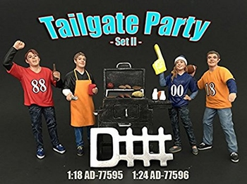 Barbecue + 4 figuren Tailgate party set + 4 Figures  1/24