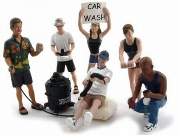 Car Wash figuren set figures  1/18