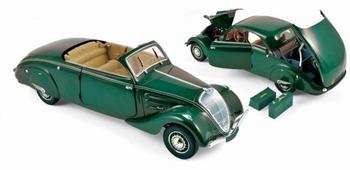 Peugeot 402  Eclipse 1937 Cabrio  Groen  Green  1/18