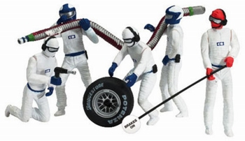 Carrera Mechaniekers - Pit Crew  Wit - White  1/32
