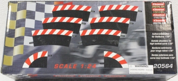 Carrera  buitenkant slipstriken voor kom bocht 1/30°  1/32