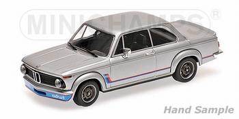 BMW 2002 Turbo 1973 Zilver - Silver   1/18