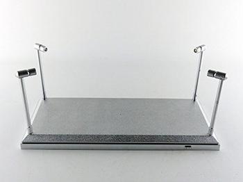 Vitrine box met 4 Led lichten  en zilvere bodem  1/18